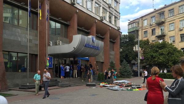 Азов заблокировал офис Киевгорстроя и готовится к его захвату