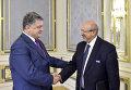Президент Украины Петр Порошенко и генеральный секретарь ОБСЕ Ламберто Заньер