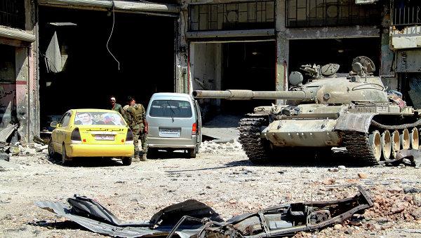 Освобожденный район Рамусе на юге Алеппо