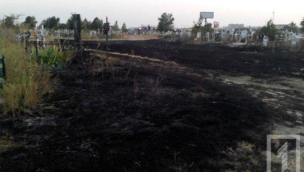 Накрупнейшем украинском кладбище вОдессе произошел пожар