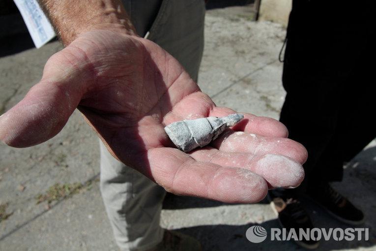 Последствия обстрела поселка Крутая балка в Донецкой области