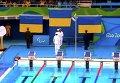 Церемония награждения украинских пловцов