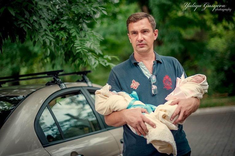 Одесские пятерняшки снимались вбольшой семейной фотосессии