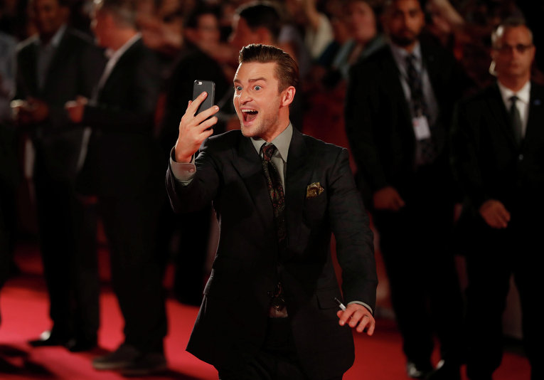 Американский актер Джастин Тимберлейк на кинофестивале в Торонто, Канада.