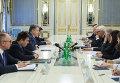 Президент провел встречу с министрами иностранных дел Германии и Франции