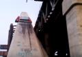 В Киеве загорелся недостроенный Подольский мост: кадры с места ЧП. Видео