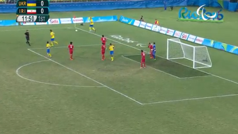 Украина vs Иран: финал футбольного турнира Паралимпиады. Видео