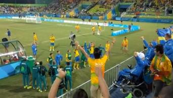 Сборная Украины по футболу - чемпион Паралимпиды. Видео