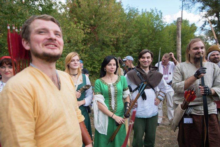 Большой турнир традиционных лучников в Киеве