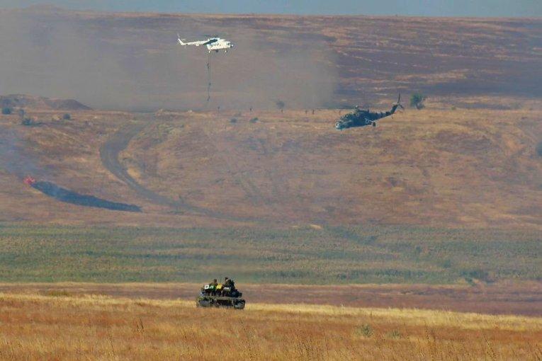 Тактические учения бригады, воевавшей в Донецком аэропорту