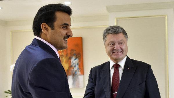 Порошенко обсудил сэмиром Катара сотрудничество вэнергетической сфере