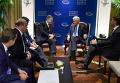 Петр Порошенко и Билл Клинтон в США