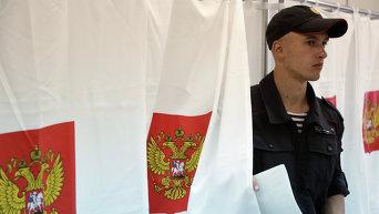 На одном из избирательных участков в Симферополе в единый день голосования