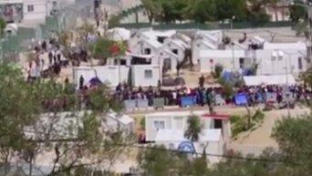 Беспорядки на греческом острове Лесбос