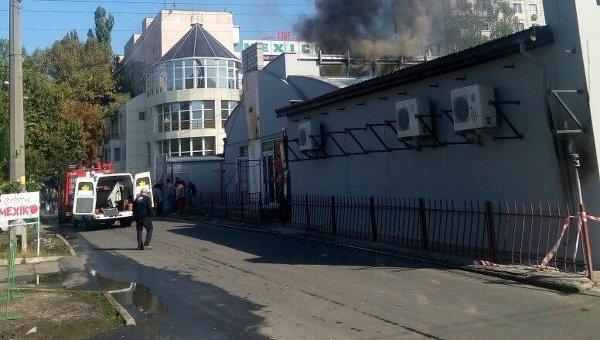 Взрыв в ресторане Аквамарин в Одессе