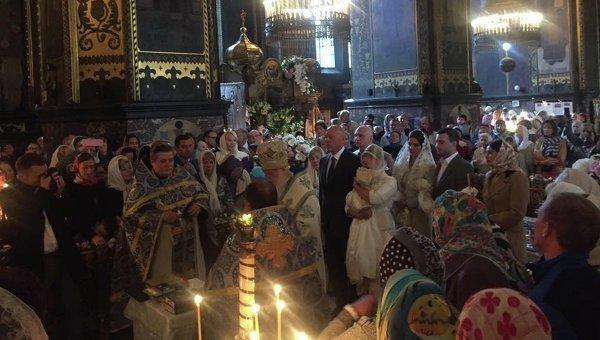Крестины внучки Юлии Тимошенко во Владимирском соборе в Киеве