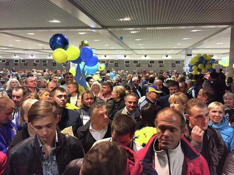 Встреча паралимпийцев в аэропорту Борисполь