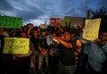 Охваченный протестами город Шарлотт