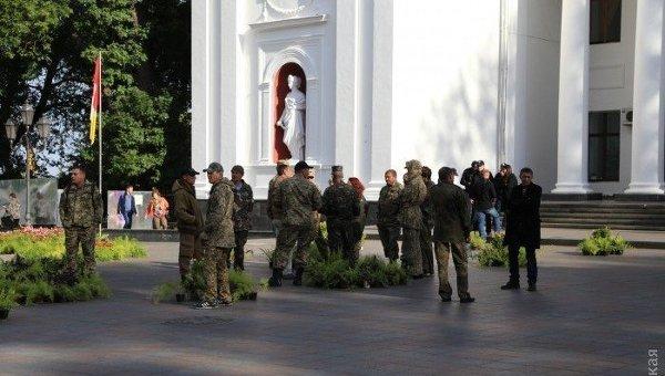 Ситуация у горсовета Одессы