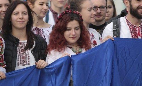 В Киеве прошел Марш в вышиванках