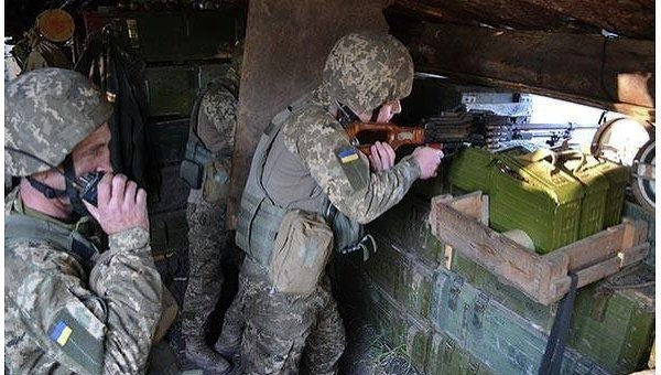 Позиции 10 горно-штурмовой бригады ВСУ под Донецком