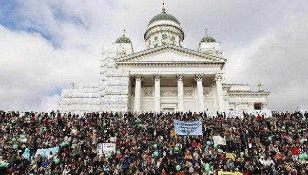 ВХельсинки проходит антирасистская демонстрация