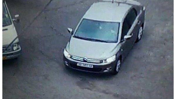 Автомобиль подозреваемого в убийстве полицейского в Днепре