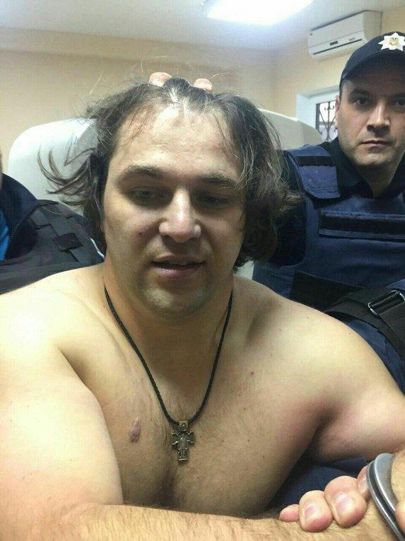 Задержание подозреваемого в убийстве полицейских в Днепре Пугачева