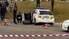 На месте убийства патрульных в Днепре