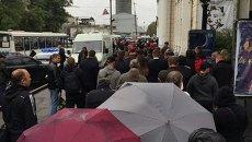 Жители Днепра прощаются с погибшими полицейскими