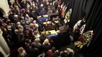 Церемония прощания с погибшими патрульными в Днепре