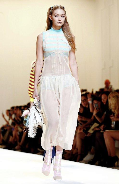 Джиджи Хадид. Неделя моды в Милане