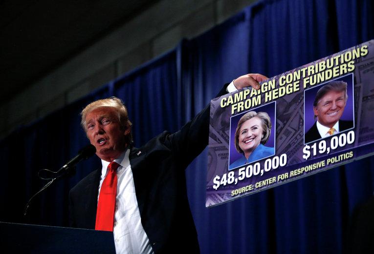 Кандидат в президенты США от Республиканской партии Дональд Трамп на митинге в Пенсильвании