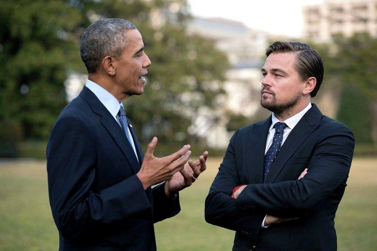 Американский актер Леонардо ДиКаприо и президент США Барак Обама обсудят борьбу с изменением климата.