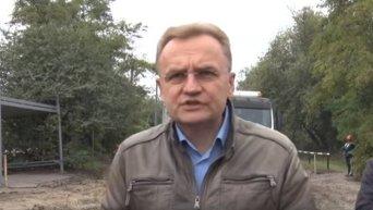 Андрей Садовый о ситуации с вывозом мусора из Львова. Видео