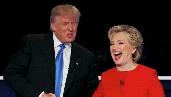 ВСША начались дебаты Клинтон иТрампа: завершена