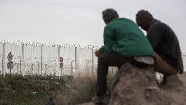 Лагерь нелегальных мигрантов в Кале