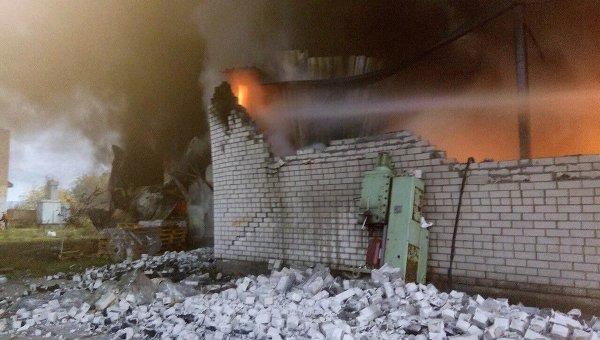 Под Киевом наскладе произошел сверепый пожар