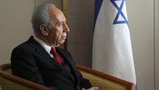 Бывший президент Израиля Шимон Перес в Давосе