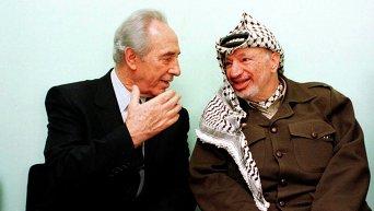 Шимон Перес и Ясир Арафат