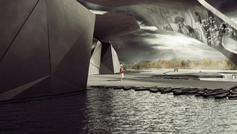 Визуализация проекта Мемориального комплекса Бабий Яр