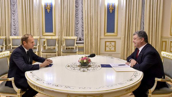 ЕС: Туск проверил уПорошенко степень подготовки ксаммиту Украина