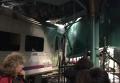 Первые кадры с места крушения поезда в Нью-Джерси. Видео