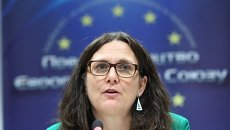 Европейский комиссар по вопросам торговли Сесилия Мальмстрем. Архивное фото