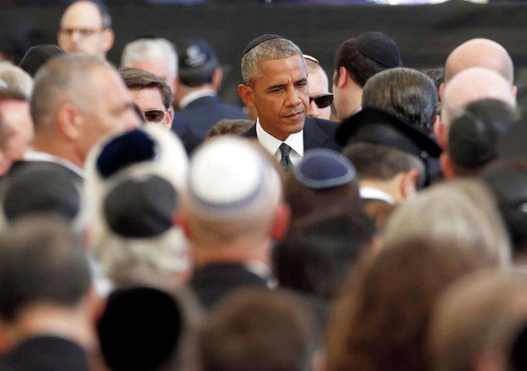 Церемония прощания с Шимоном Пересом. Президент США Барак Обама