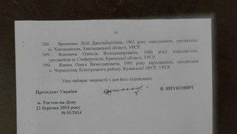 Украз Виктора Януковича о выходе из гражданства прокуроров