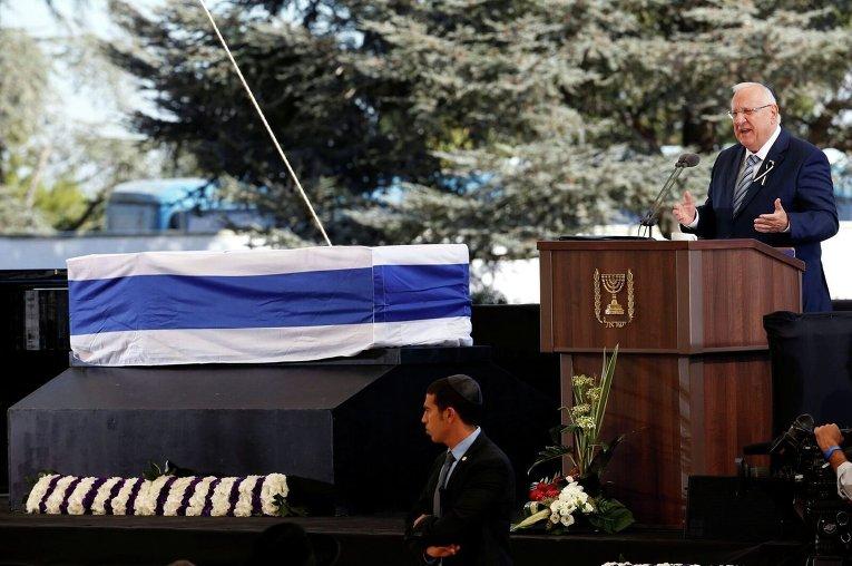 Церемония прощания с Шимоном Пересом. Президент Израиля Реулин Ривлин
