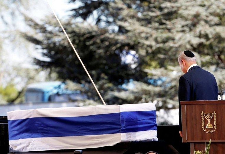 Церемония прощания с Шимоном Пересом. Премьер-министр Израиля Биньямин Нетаньяху