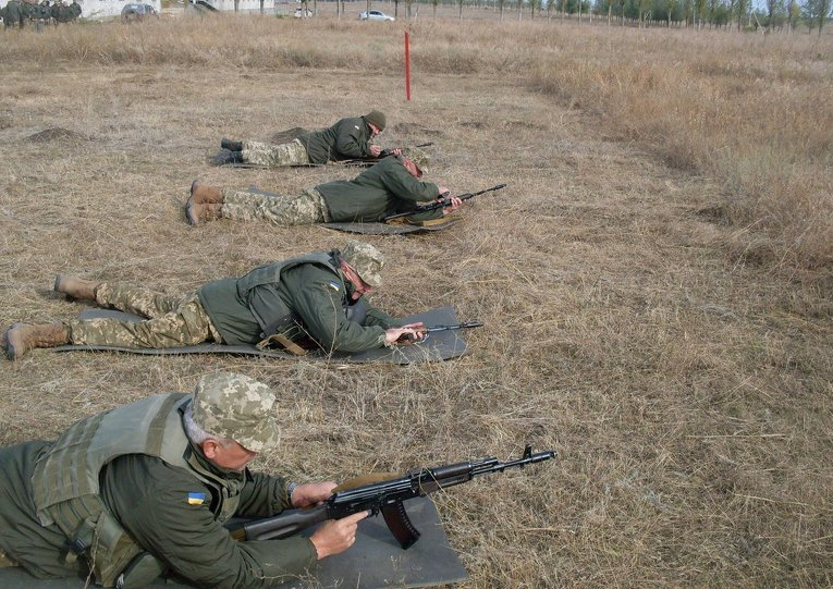 Учения резервистов артиллерийской бригады оперативного командования Юг