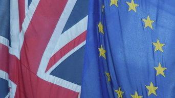 Флаг Великобритании и Евросоюза